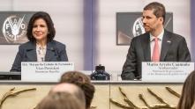 La Vicepresidenta Margarita Cedeño de Fernández y el Embajador Mario Arvelo en la FAO • Vice-President Margarita Cedeño de Fernández and Ambassador Mario Arvelo at FAO