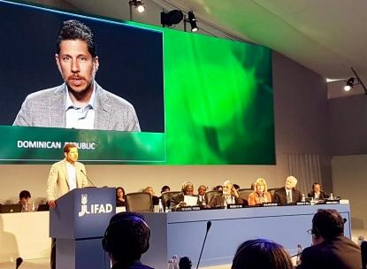 El Embajador Mario Arvelo se dirige al 40º Consejo de Gobernadores del Fondo Internacional para el Desarrollo Agrícola • Ambassador Mario Arvelo addresses the 40th Governing Council of the International Fund for Agricultural Development