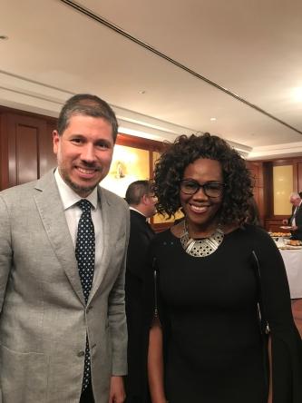 El Embajador Mario Arvelo y la Vicepresidenta de Costa Rica Epsy Campbell en Roma • Ambassador Mario Arvelo and Costa Rican Vice-President Epsy Campbell in Rome