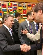 El Presidente de Colombia Juan Manuel Santos y el Embajador Mario Arvelo en la FAO • Colombian President Juan Manuel Santos and Ambassador Mario Arvelo in FAO